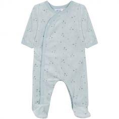Pyjama chaud bleu étoile grise (3 mois : 60 cm)