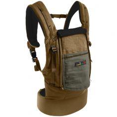 Porte-bébé PhysioCarrier olive avec pack réhausseur et cale-tête