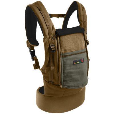 Porte-bébé PhysioCarrier olive avec pack réhausseur et cale-tête  par Je Porte Mon Bébé / Love Radius