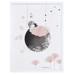 Affiche encadrée lune Sieste by My Lovely Thing (30 x 40 cm)
