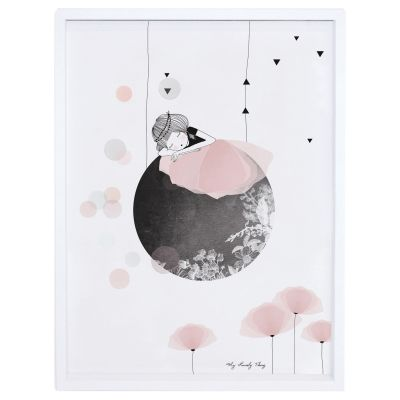 Affiche encadrée lune Sieste by My Lovely Thing (30 x 40 cm)  par Lilipinso