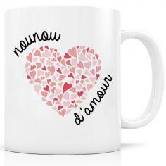 Mug céramique Nounou d'amour