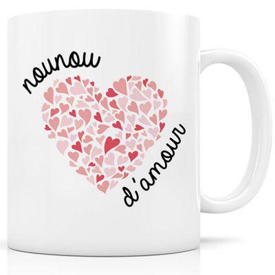 Mug céramique Nounou d'amour  par Signature Label Tour