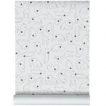 Papier peint Contour noir (10 mètres)  par Done by Deer