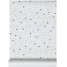 Papier peint Contour noir (10 mètres)