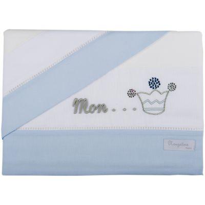 Parure de lit drap + taie d'oreiller Mon Prince bleu (120 x 180 cm)  par Nougatine