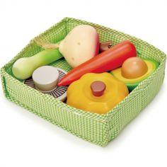 Panier de légumes en bois
