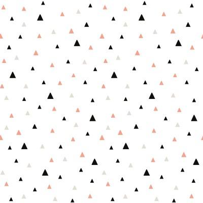 Papier peint petits triangles noirs et corail by Claudia Soria (2,5 m)  par Lilipinso