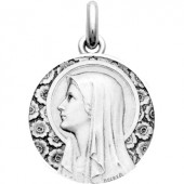 Médaille Vierge à l'Eglantier  (or blanc 750°) - Becker