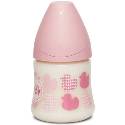 Biberon Rose & Bleu Toys 3 vitesses rose clair motif aléatoire (150 ml)  par Suavinex