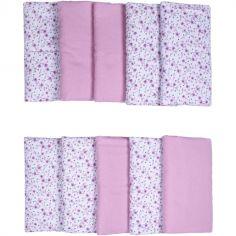 Tour de lit modulable et respirant Liberty rose (pour lits 60 x 120 et 70 x 140 cm)