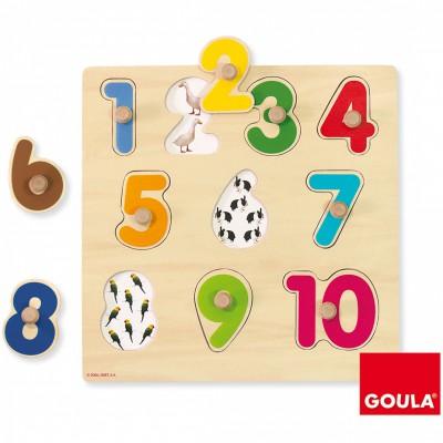 Puzzle à encastrement numéros  par Goula