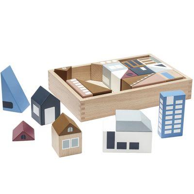 Blocs de construction ville en bois Aiden city  par Kid's Concept