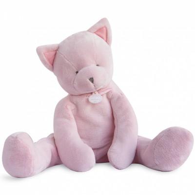 Peluche géante chat rose (70 cm) Doudou et Compagnie