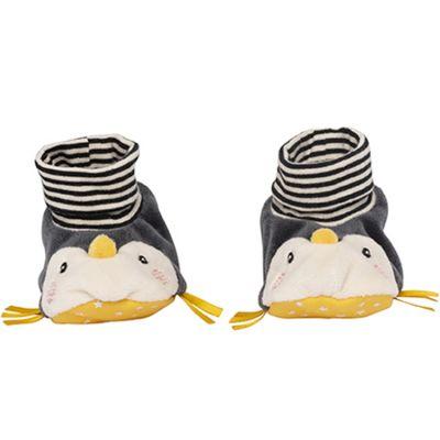 Chaussons en tissu pingouin Les Nanouks (0-6 mois)  par Galipette