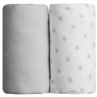 Lot de 2 draps housses étoile gris (60 x 120 cm)  par Babycalin