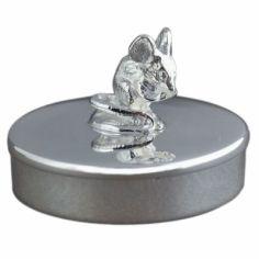 Boîte à dents de lait Souris personnalisable (métal argenté)