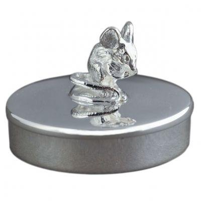 Boîte à dents de lait Souris personnalisable (métal argenté)  par Daniel Crégut