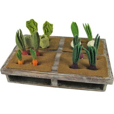 Potager avec 16 légumes en feutrine  par Papoose