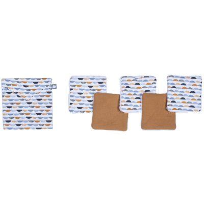 Lot de 5 lingettes lavables Honeymoon (10 x 10 cm)  par BB & Co