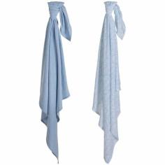 Lot de 2 langes Swaddle Blue melange (70 x 70 cm)