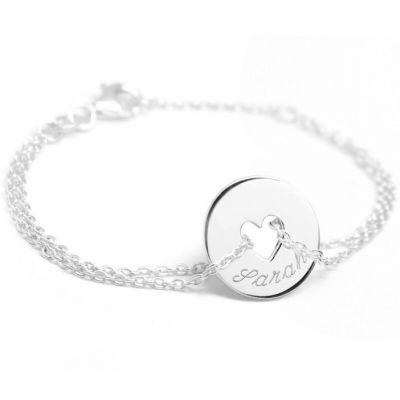 Bracelet Poème coeur (argent 925°)  par Petits trésors