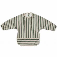 Bavoir à manches Merle Stripe Garden green/sandy/dove blue  par Liewood