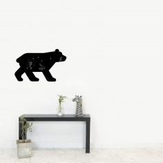 Stickers muraux Ours ardoise