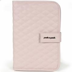 Protège carnet de santé Ines matelassé rose