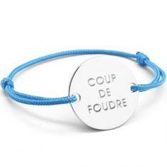 Bracelet cordon maman Family (argent 925°)