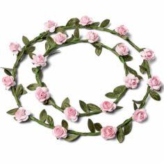 Couronnes de fleurs rose pâle (2 pièces)
