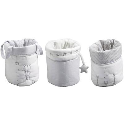 Lot de 3 paniers de toilette Céleste  par Sauthon