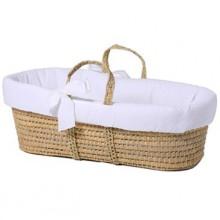 couffin en osier naturel et blanc par tartine et chocolat. Black Bedroom Furniture Sets. Home Design Ideas