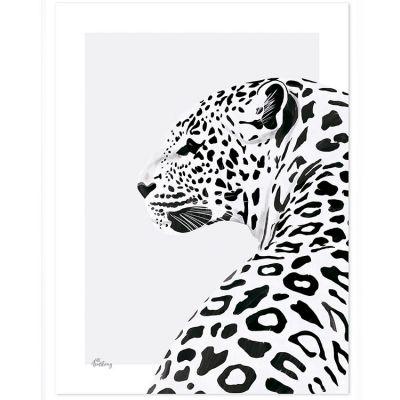 Affiche le léopard (30 x 40 cm)  par Lilipinso