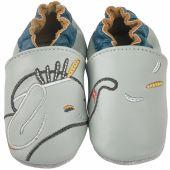 Chaussons cuir Bao gris (0-6 mois) - Noukie's