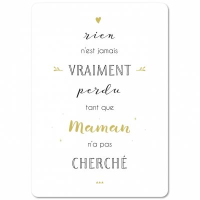 Carte Citation Maman 15 X 21 Cm