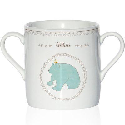 Tasse en porcelaine Ours (personnalisable)
