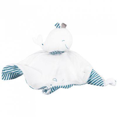 Doudou plat Blue baleine  par Sauthon