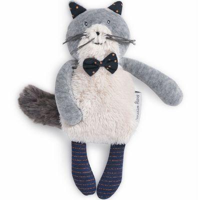 Peluche chat Fernand Les Moustaches (19 cm)  par Moulin Roty