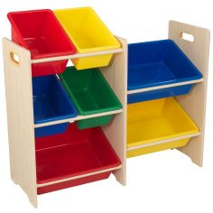 Meuble de rangement Sort It & Store It multicolore (7 bacs)