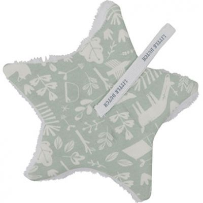 Doudou attache sucette Adventure mint (15 x 15 cm)  par Little Dutch