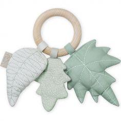 Hochet anneau feuille Mix vert sauge