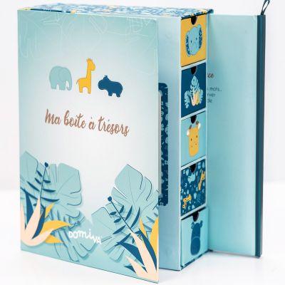 Coffret ma boîte à trésors et son journal de naissance Zanimo  par Domiva
