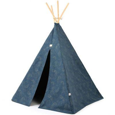 Tente tipi Phoenix Gold bubble Night blue  par Nobodinoz