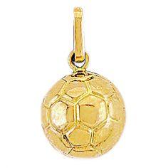 Pendentif Ballon de foot (or jaune 750°)