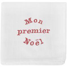 Lange en coton Mon premier Noël (70 x 70 cm)