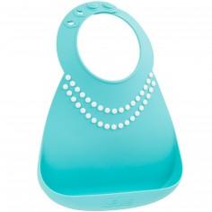 Bavoir silicone à poche Collier de perles chic