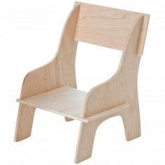 Petite chaise en bois pour poupée (12 x 19 cm)