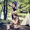 Coiffe indienne Ituha noire  par Souza For Kids