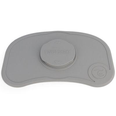 Plateau Click Mat mini gris pastel  par Twistshake